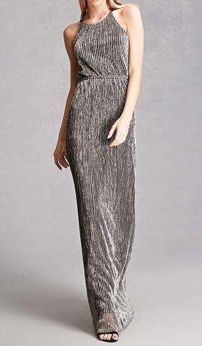 Metallic Strappy-Back Dress