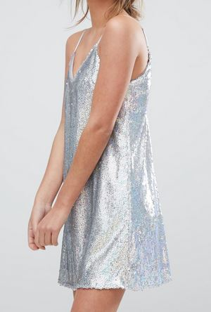 Boohoo 2 Color Sequin Dress