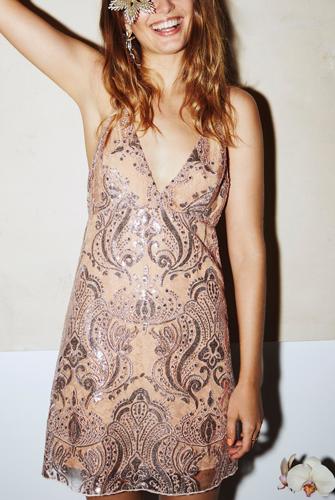 Night Shimmers Mini Dress