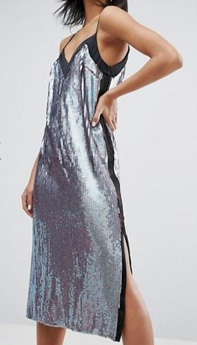 River Island Sequin Slip Dress