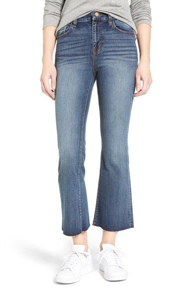 High Rise Crop Kick Flare Jeans