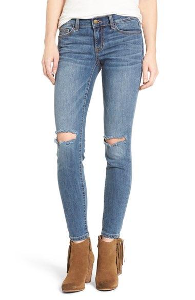 SP Black Distressed Skinny Jeans