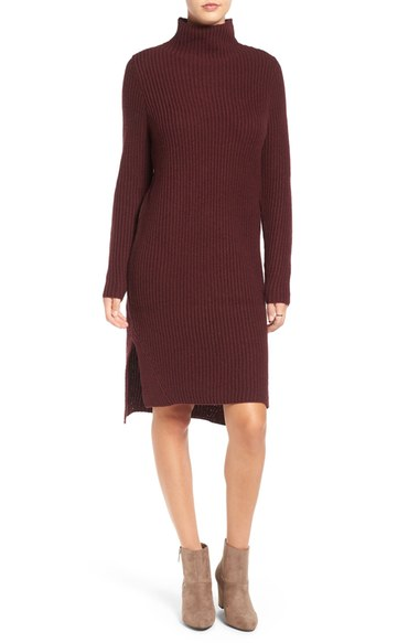 BP Mock Neck Knit Sweater Dress