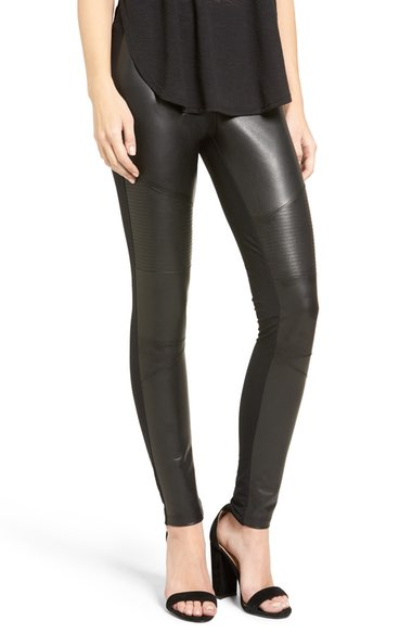 BP Faux Leather Front Moto Leggings