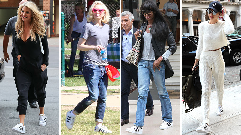 Celebrities Wearing Black Adidas Shoes