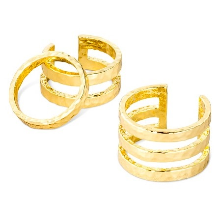 Sugarfix by BaubleBar Trip Ring Set - Gold