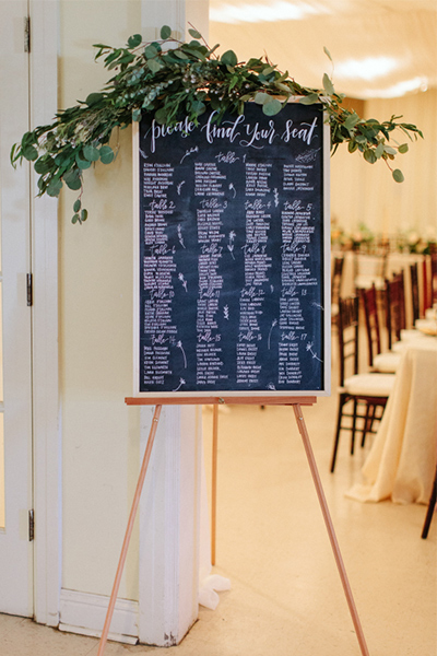 Wedding Seating Chart Plan