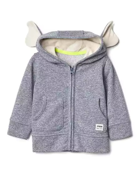 Babygap, Disney Baby Dumbo Ears Zip Hoodie