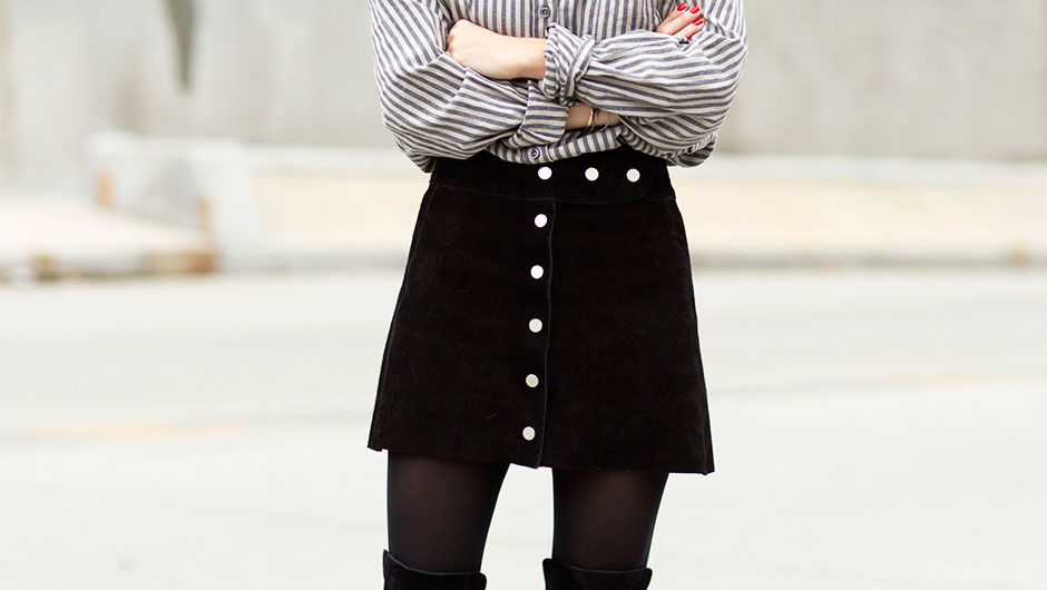 94ebd3624 8 Outfit Ideas That Will Inspire You To Wear Black Tights Everyday ...