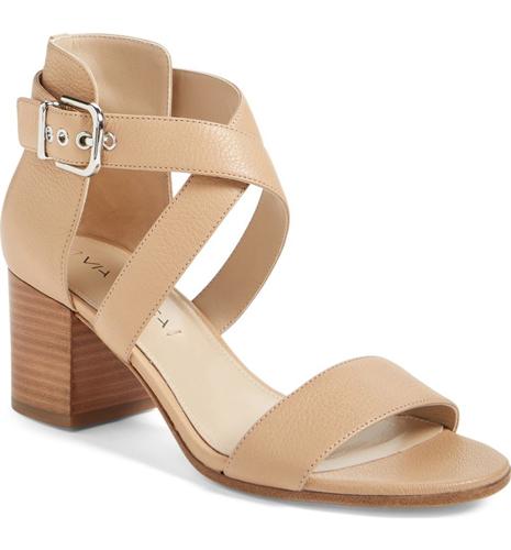 Via Spiga 'Jobina' Crisscross Strap Block Heel Sandal