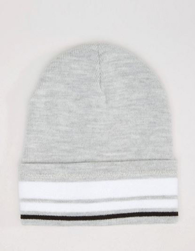 River Island Stripe Beanie Hat