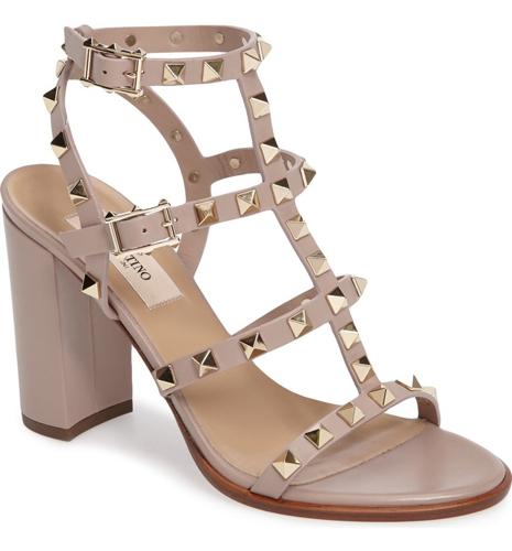 Valentino 'Rockstud' T-Strap Sandal