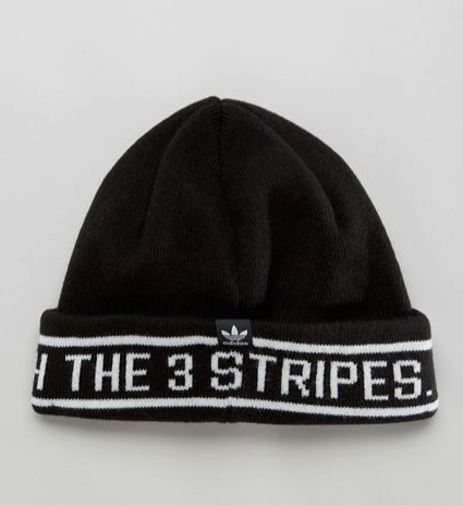 adidas Originals Knitted Beanie With Three Stripe Logo Trim
