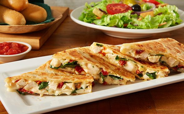 grilled chicken & cheese piadina