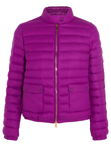 Moncler Actea quilted cashmere down jacket