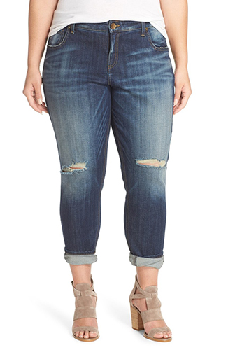 'Catherine' Ripped Boyfriend Jeans KUT FROM THE KLOTH