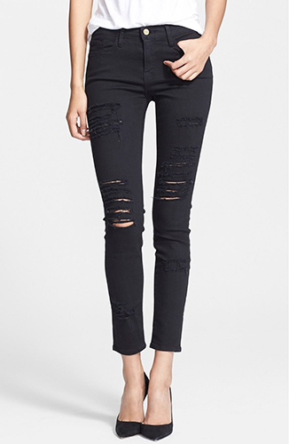 Le Color Rip Skinny Jeans FRAME