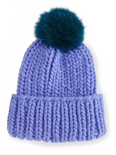 Eugenia KimRain Hat with Fur Pom Pom