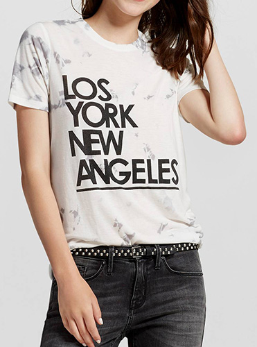 Women's Los York New Angeles Graphic Tee - Mighty Fine