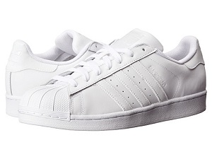 Zappos has the adidas Superstars in all white on sale for $72.99, down from  $80.