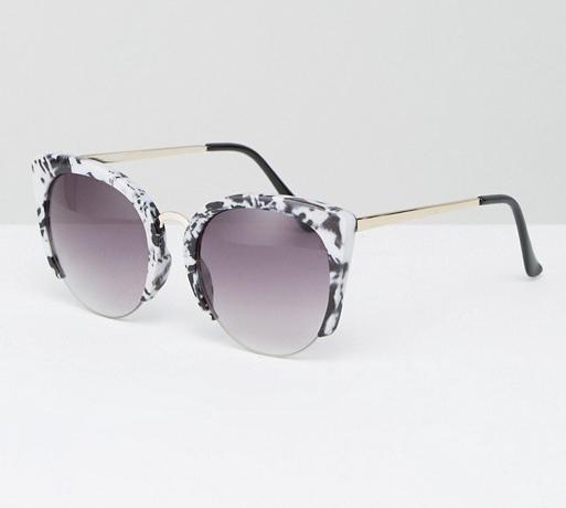 e9e878de9a ... ASOS Cat Eye Sunglasses With Cut Away Frame In Marble Acetate Transfer  ( 18.50) ...