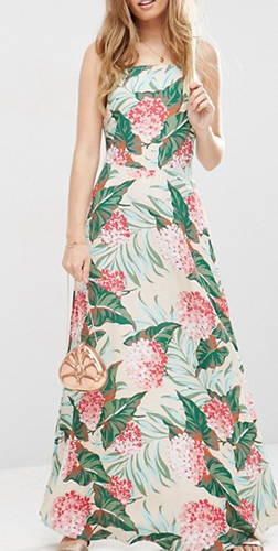 ASOS Tropical Print Maxi Dress
