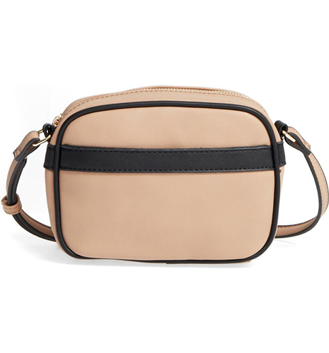 Faux Leather Camera Crossbody Bag