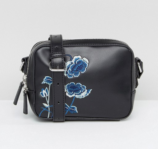 Embroidered Camera Bag
