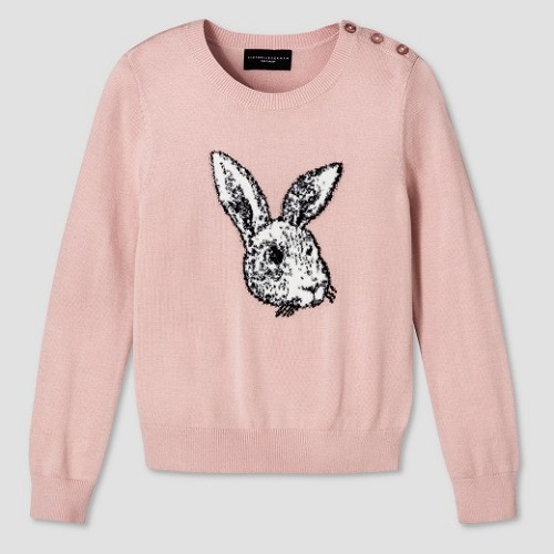 girls blush bunny sweater victoria Beckham for target