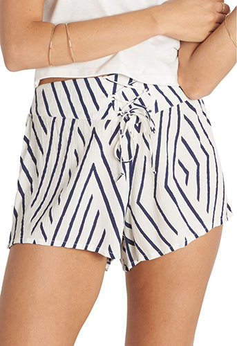 Lace-Up Woven Shorts