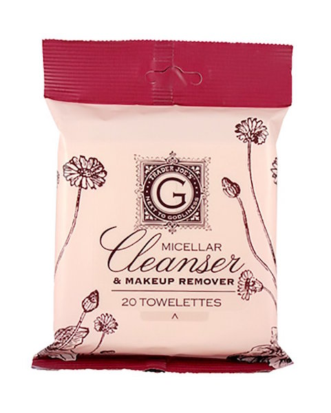 trader joes micellar cleanser makeup remover two pack each with 20 towelettes