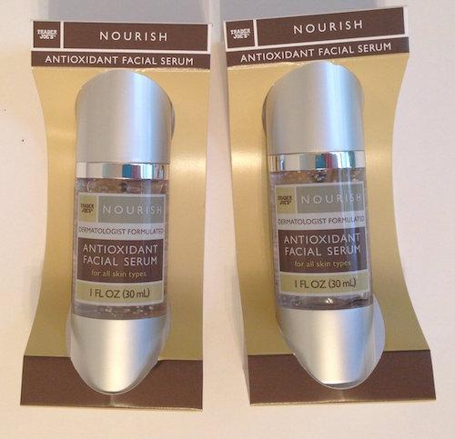 trader joes nourish antioxidant facial serum two pack