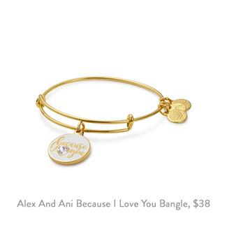alex and ani because I love you charm bangle