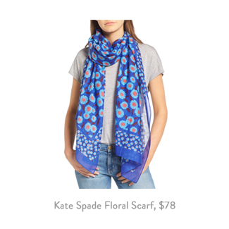 kate spade new york tangier floral cotton silk oblong scarf