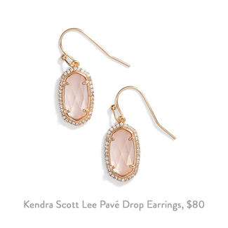 kendra scott lee pave drop earrings