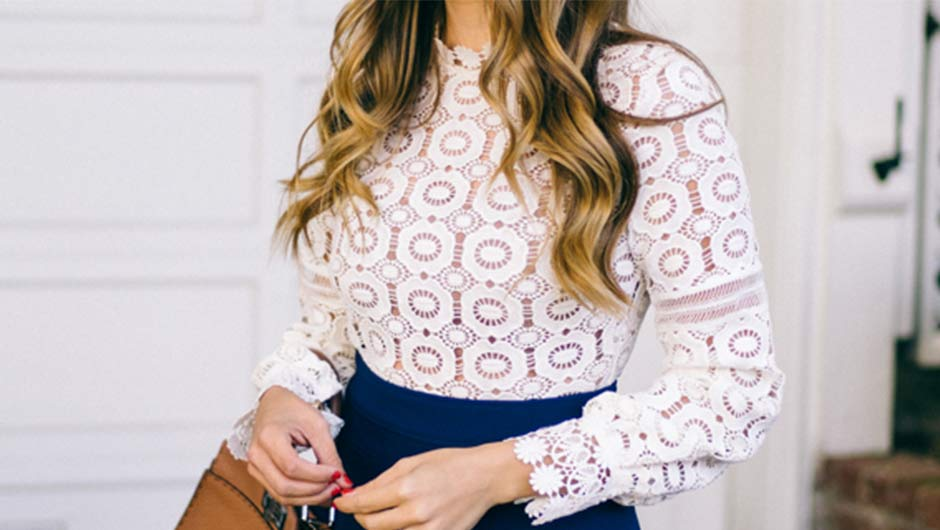 5b7e9f5c235 Lace Blouses Are This Spring s Wear-With-Everything Top–Shop Our ...