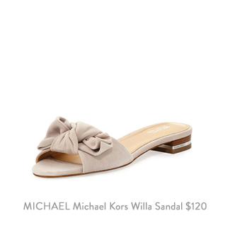 MICHAEL michael kors willa suede slide sandals