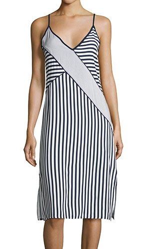 Splendid Boardwalk Stripe Sleeveless Midi Dress