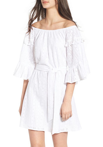 Celia Peasant Off the Shoulder Dress