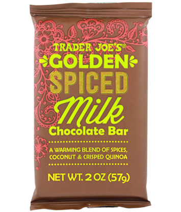 Golden Spiced Milk Chocolate Bar