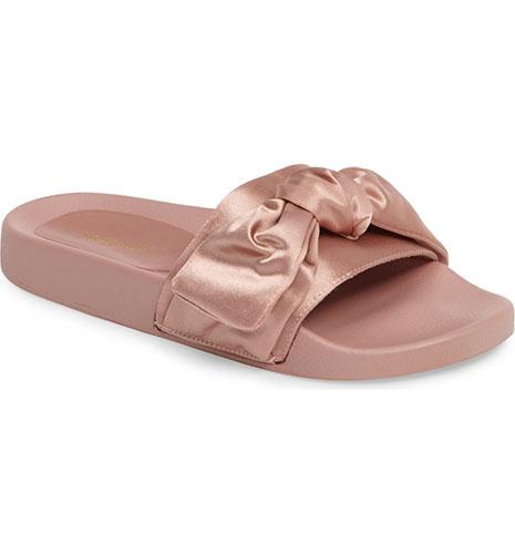 Halo Bow Slide Sandal