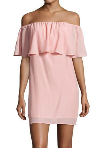 Amanda Uprichard Kiara Ruffled Off-The-Shoulder Dress