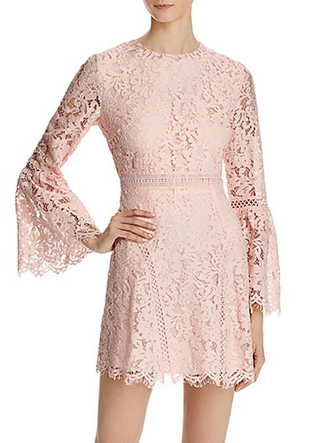 Do and Be Lace Bell Sleeve Dress