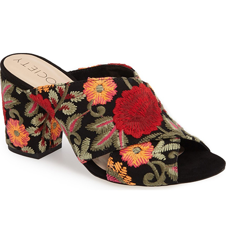 Luella Flower Embroidered Mule