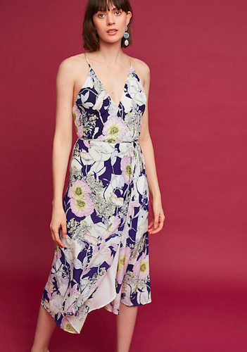Anthropologie Philomena Silk Midi Dress