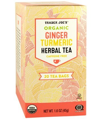 Trader Joes Organic Ginger Turmeric Herbal Tea 20 envelopes each