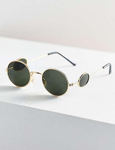Vintage Grampa Oval Sunglasses
