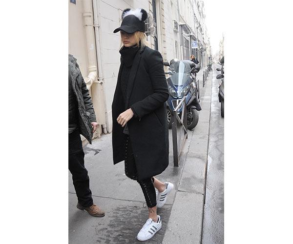 gigi hadid adidas superstar sneakers