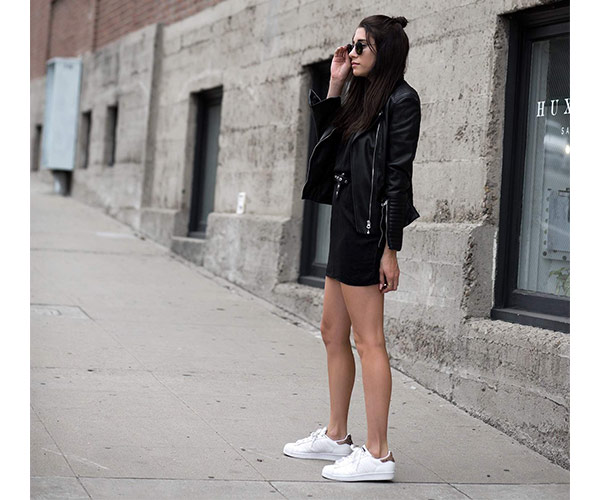 e3b4a43f41e leather and sneakers. Another way to dress up Stan Smith ...