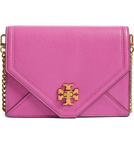 Kira Leather Envelope Clutch